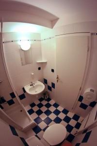 Koupelna součástí pokoje